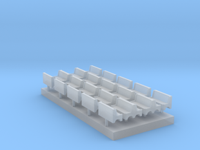 Bench type A - T Scale 1:450 20 pcs set in Smoothest Fine Detail Plastic