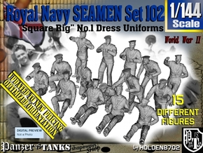 1/144 Royal Navy Seamen Set102 in Smooth Fine Detail Plastic