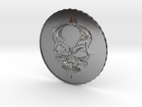 New Invented Coin Value 1 in Polished Silver