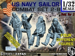 1/32 US Navy KAPOK Set 2-8 in Smooth Fine Detail Plastic