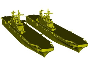 1/1800 scale USS Tarawa LHA-1 assault ships x 2 in Smooth Fine Detail Plastic