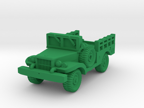 Dodge WC51 - Allied WWII Vehicle Miniature in Green Processed Versatile Plastic