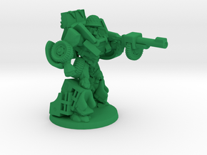 """Deadeye"" - Allied WWII Mechanoid Miniature in Green Strong & Flexible Polished"
