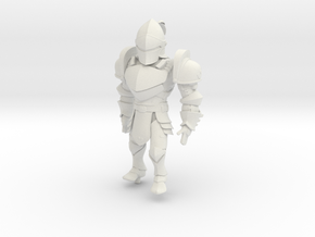 Knight named KAI in White Natural Versatile Plastic