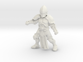 Knight Abishai in White Natural Versatile Plastic