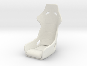 KPOPRC RC DRIFT SEAT in White Natural Versatile Plastic