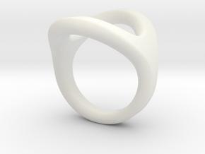 Milano_1 in White Natural Versatile Plastic: Small