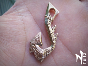 Wind From The West Hook Pendant in Raw Bronze