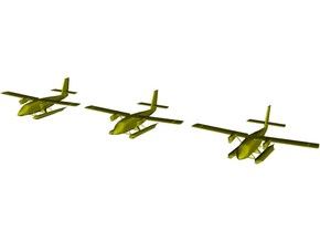 1/200 scale DHC-6 Twin Otter seaplanes x 3 in Smooth Fine Detail Plastic