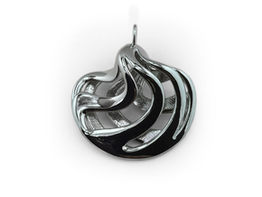 Sferator pendant in Polished Silver