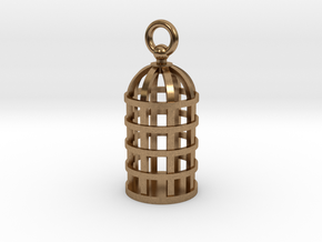 Cage Pendant in Natural Brass