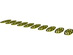 1/35 scale Norwegian Army military snowshoes x 10 in Smooth Fine Detail Plastic