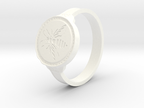 Hornet Ring in White Processed Versatile Plastic