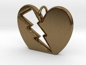 Lightening in your Heart pendant in Natural Bronze
