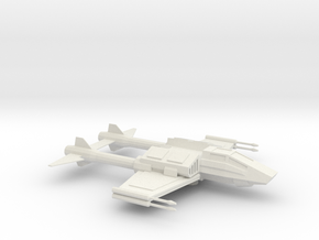 X-83 TwinTail Starfighter in White Natural Versatile Plastic