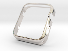 Apple Watch Gold Cover Case 42mm in Rhodium Plated Brass