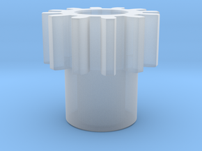 Spur Gear in Smooth Fine Detail Plastic