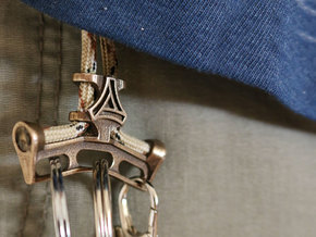 EDC key strap /chain / lanyard - suits 550 paracor in Polished Bronze Steel