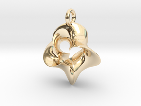 4-Twisted Möbius pendant in 14K Yellow Gold
