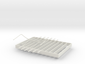 Stern Decking Support and Depression Rails for S38 in White Strong & Flexible