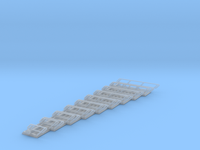 1:72 Stairs Assorted 9pc in Smooth Fine Detail Plastic