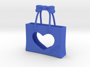 Shopping Bag in Blue Strong & Flexible Polished