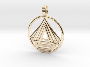 DAWNSTAR in 14k Gold Plated Brass