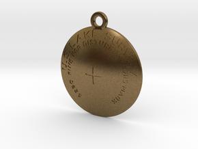 USLS  Benchmark Keychain in Raw Bronze
