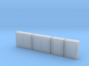 HO 4 Electrical Cabinets in Smooth Fine Detail Plastic