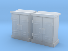 HO 2 Relay Cabinets Low in Smooth Fine Detail Plastic