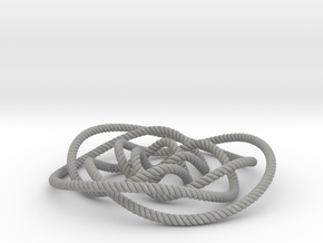Rose knot 3/5 (Rope with detail) in Aluminum: Small