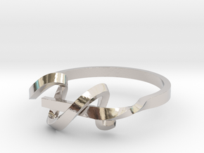 Curl Ring in Rhodium Plated Brass: 5 / 49