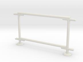 6' Chain-link Barrier Fence   1-Bay (HO) in White Natural Versatile Plastic: 1:87 - HO