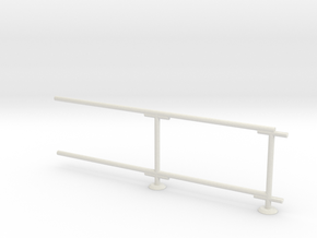 6' Chain-link Barrier Fence        2-Bay (HO) in White Strong & Flexible: 1:87 - HO
