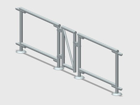 6' Chain-link Man Gate Frame in Smooth Fine Detail Plastic: 1:87 - HO
