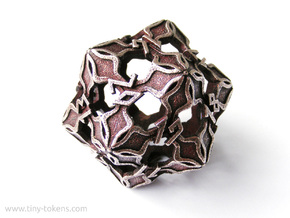 Amonkhet Spindown D20 Life Counter Die in Polished Bronzed Silver Steel