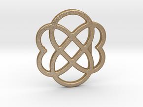 Custom Logo Belt Buckle in Matte Gold Steel