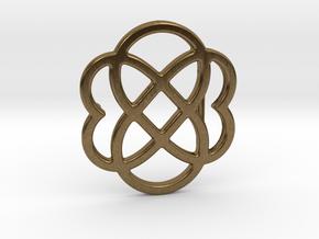 Custom Logo Belt Buckle in Natural Bronze