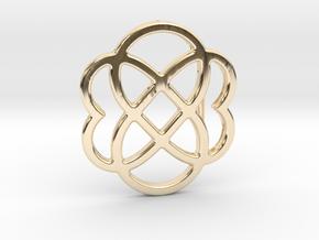 Custom Logo Belt Buckle in 14k Gold Plated Brass