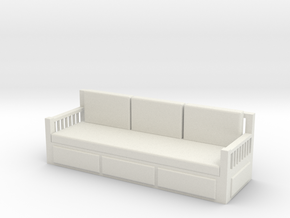 Printle Thing Sofa 04 - 1/24 in White Strong & Flexible