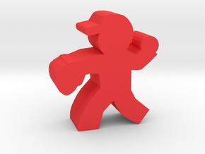 Game Piece, Baseball Pitcher in Red Processed Versatile Plastic