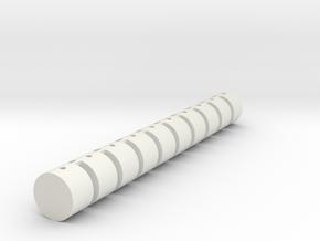 Strohballen Rundballen 10er Set 1:120 in White Natural Versatile Plastic