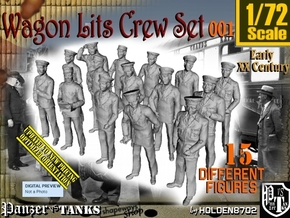 1/72 Wagon Lits Set001 in Smooth Fine Detail Plastic
