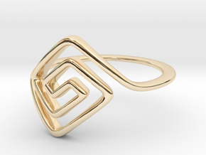 Square Spiral Ring in 14K Yellow Gold: 7 / 54