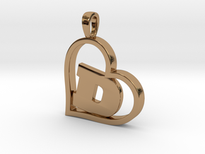 Alpha Heart 'D' Series 1 in Polished Brass
