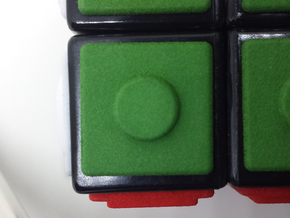 Green replacement tile (Rubik's Blind Cube) in Green Strong & Flexible Polished
