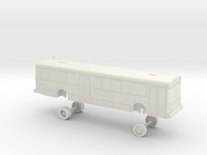 HO Scale Bus New Flyer D40 OCTA 5000s/5100s in White Natural Versatile Plastic