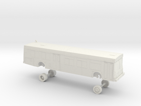 HO Scale Bus New Flyer D40LF NCTD 1100s in White Natural Versatile Plastic