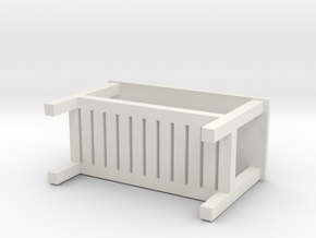 Miniature HEMNES Bench - IKEA in White Natural Versatile Plastic: 1:12
