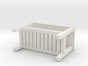 Miniature HEMNES Bench - IKEA in White Natural Versatile Plastic: 1:12